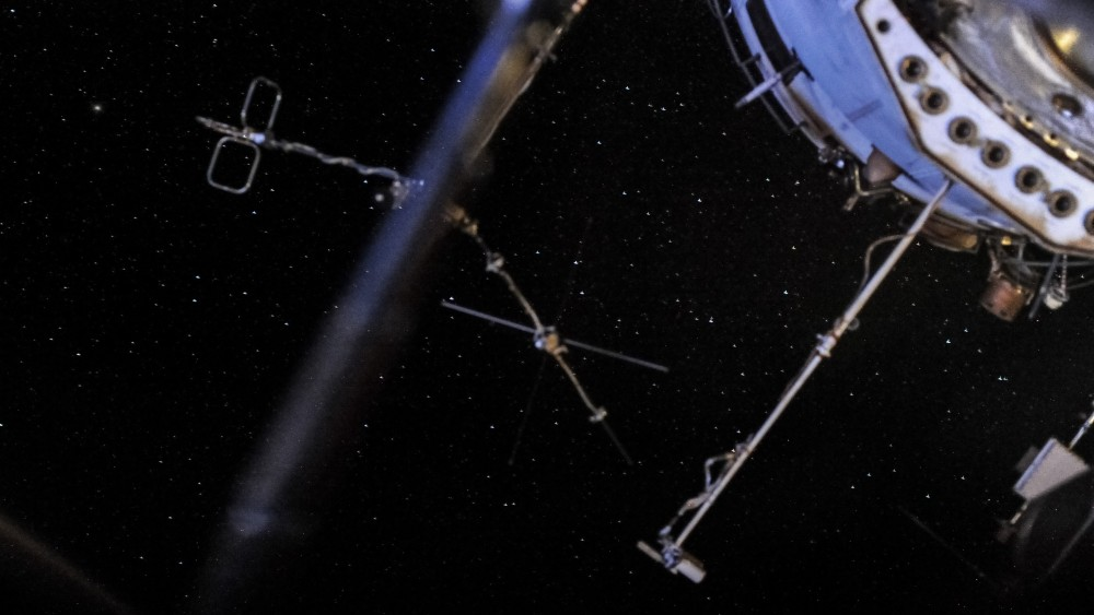Вид на звёздное небо с МКС