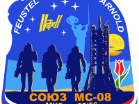 Эмблема 55/56-й экспедиции на Международную Космическую Станцию