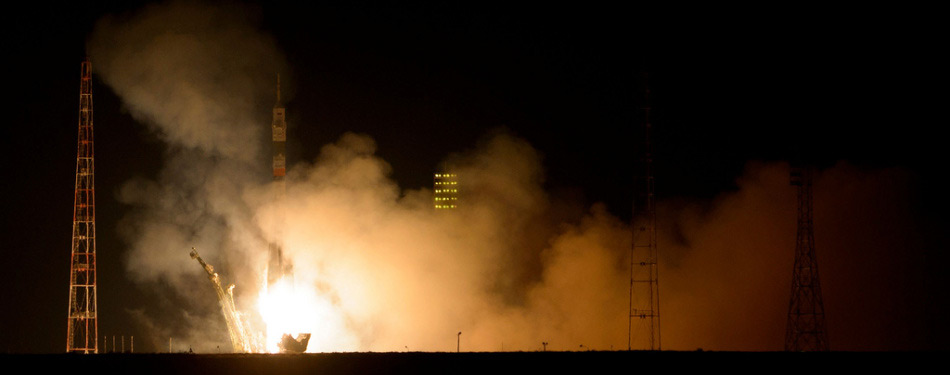 From Baikonur launch the spaceship