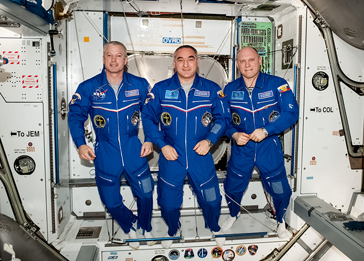 Space Station Trio Prepares for Wednesday Departure