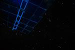 Солнечные панели на фоне звёздного неба