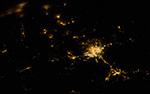 Города мира - ночной Эр-Рияд, столица Саудовской Аравии