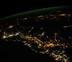 Ночное побережье Персидского залива