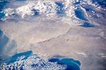 Пылевая буря на Каспии, Казахстан