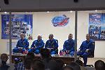 """Пресс-конференция экипажей пилотируемого корабля """"Союз МС-08"""""""