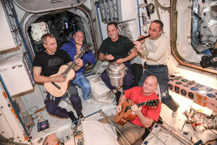 A small musical Concert on Board the International Space Station