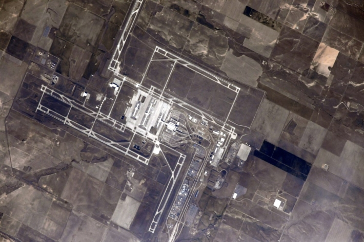 Аэропорт в Денвере, США