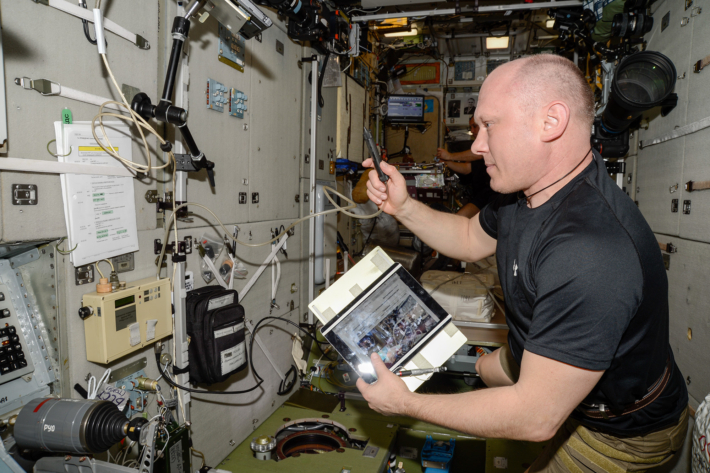 Work on the ISS