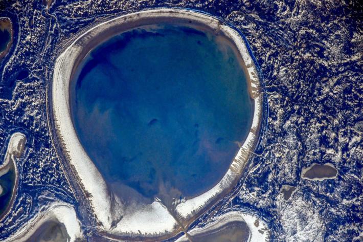 Zhaman-Akkol Lake, Kazakhstan