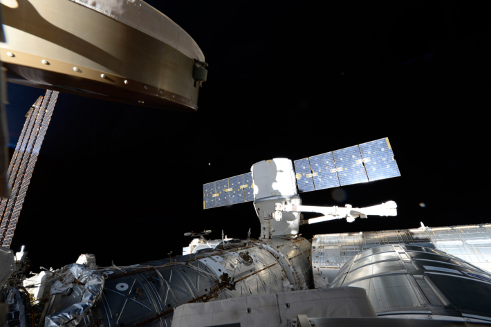 SpaceX Dragon CRS-14 Cargo Ship undocked from the ISS