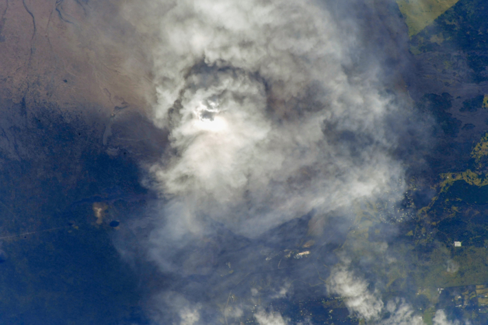 Hawaii Volcano eruption from Space