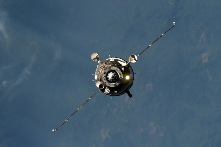 Soyuz MS-07 undocking from the ISS