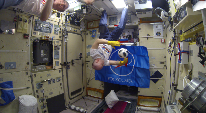 FIFA World Cup 2018 Filal on the ISS
