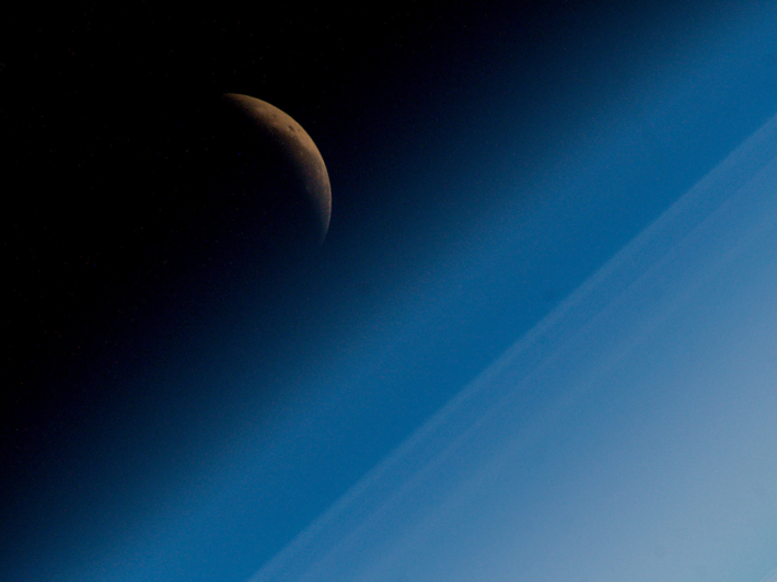 The longest total Lunar Eclipse of the 21st century from the ISS