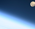 Луна за сутки до затмения