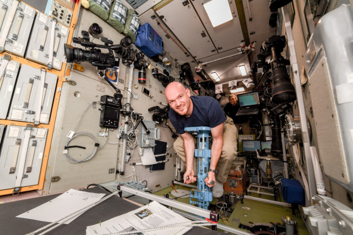 Measuring the Cosmonaut's Weight on the ISS