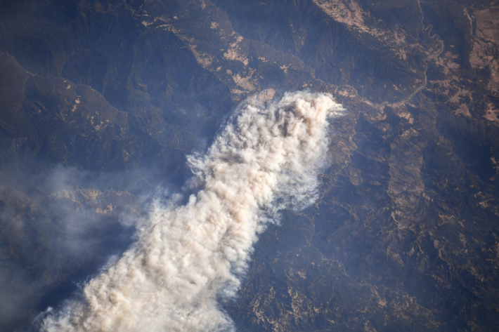 California Wildfires from the ISS