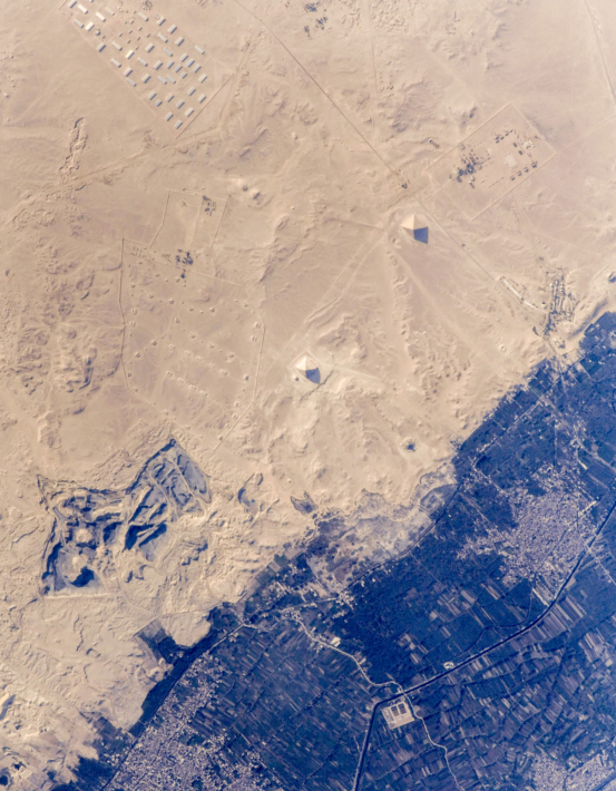Over the Egypt. Egyptian Pyramids