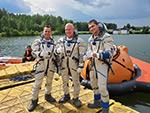 Начались тренировки по действиям после посадки спускаемого аппарата корабля «Союз» на водную поверхность
